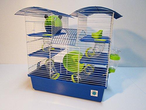 Abby - Ampia gabbia a tre piani per criceti e piccoli animali