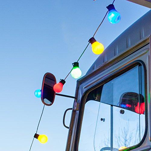 Catena di 30 luci LED multicolore a forma di lampadina di Lights4fun