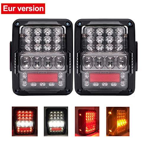 SXMA Luci di retromarcia con Luce di Posizione Posteriore a LED per Wrangler JK JKU Versione Euro...