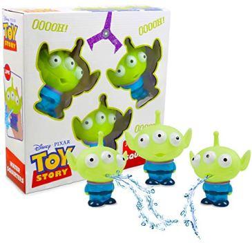 Disney Pixar Toy Story Lot De 3 Jouets D'arrosage À Jets d'eau pour Enfants Accessoires De Bain Piscine   Jeu Extra-terrestre Arroseur Amusant Extérieur Ou Intérieur pour Le Jardin La Baignoire