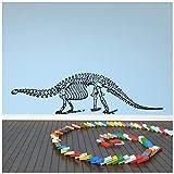 azutura Esqueleto de Alamosaurus Vinilos Huesos de Dinosaurio Pegatina Decorativos Pared Cuarto de los niños Decoración del hogar Disponible en 5 tamaños y 25 Colores X-Grande Blanco