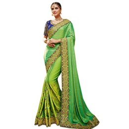 Fab Valley Silk Designer Saree With Blouse Piece
