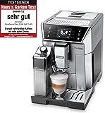 De'Longhi PrimaDonna Class ECAM 556.75.MS - Kaffeevollautomat mit integriertem Milchsystem, 3,5'' TFT Touchscreen & App-Steuerung, automatische Reinigung, 36,1 x 26 x 46,9 cm, silber/chrome