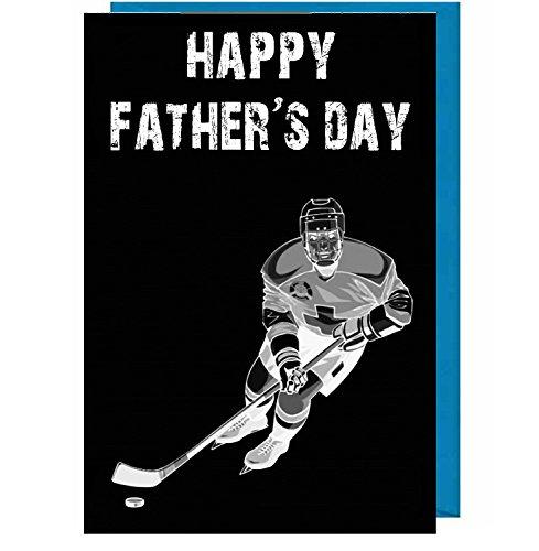 festa del papà-giocatore di hockey su ghiaccio (effetto lavagna)