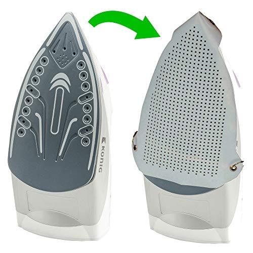 TronicXL Teflon Bügeleisensohle schützt Wäsche zb für Philips Bosch Siemens AEG Rowenta Braun Tefal Severin