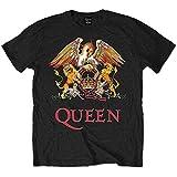 Queen Classic Crest Camiseta, Schwarz, L para Hombre