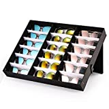 Scatola porta orologi per occhiali da sole, ONEVER scatola porta orologi con 18 slot per occhiali da sole e portaoggetti, perfetta per lorganizzazione