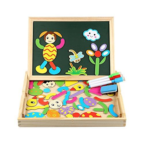 infinitoo Lavagna Magnetica Puzzle Legno Bambini Giochi Bambini Puzzle Magnetico Doppio Lato Giochi...
