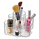 mDesign Organizador de cosméticos - Ideal Bandeja de plástico giratoria para un almacenaje de cosméticos con ingenio - Su Maquillaje organizado en 5 prácticos Compartimentos