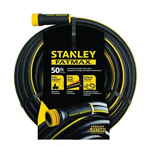 "Black , 50-Foot : Stanley FatMax Garden Hose, 50' x 5/8"", Black"
