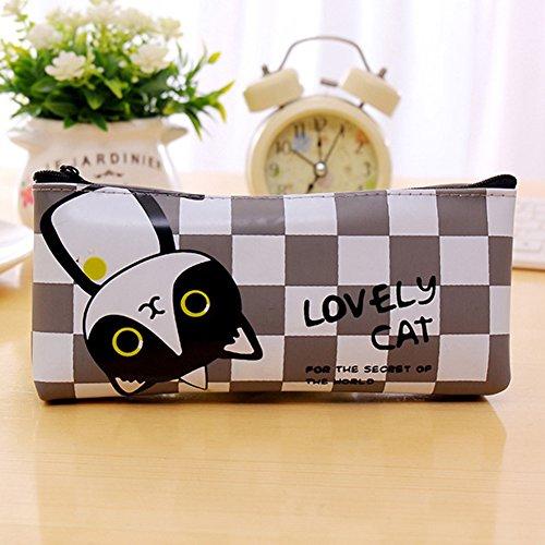 gfjhgkyu cute Cartoon Cat matita borsa trucco impermeabile della cassa Kids School Supplies 4#