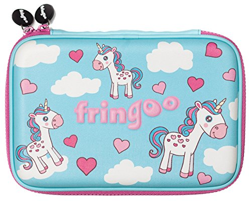 Fringooâ  Girls Boys Kids Hardtop Pencil Case cute goffrato di grandi dimensioni a scomparti...