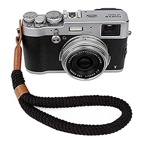 Cinturino da Polso per Fotocamera Digitale, Fatto a Mano in Morbido Cotone per Fotocamere Leica, Canon, Nikon, Fuji, Olympus e Sony (23CM)