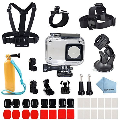 Rhodesy Custodia Protettiva Waterproof 41 in 1 Xiaomi Yi 4K/4K+ Accessori Busta per Xiaomi Yi 4K/4K+ Action Camera 2