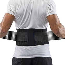 Supportiback Cinturón lumbar para terapia de postura - cinturón de apoyo de la parte baja de la espalda - con paneles de malla lavables, ajustable, correas antideslizantes - ligero y bajo