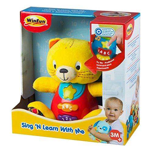 Winfun peluche mono para beb s que habla y luces de for Espejo que habla juguete