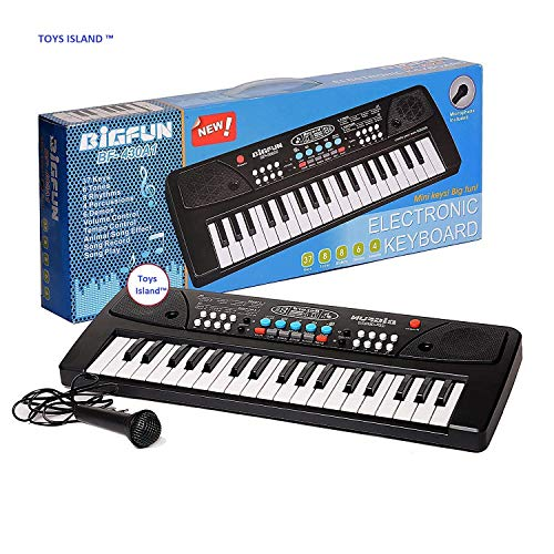 Toys Island 37 Key Bigfun Piano Keyboard Toy for Kids with Mobile Charger Power Option, USB Cable and Recording- 2019 Latest Edition