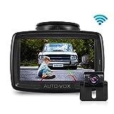 AUTO-VOX W2 Kabellos Digital-Rückfahrkamera-Set mit eingebautem Funksender, Wireless Einparkhilfe,Wasserdicht IP68-Backup-AutoKamera, 4,3-Zoll-LCD-Monitor, Nachtsicht für SUV,Bus,KfZ,Anhänger, Pickup
