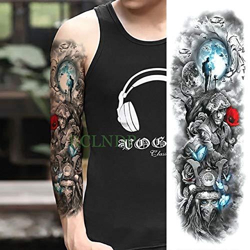 ljmljm 3pcs Impermeabile Sticker Dragon Tattoo Raffreddare Braccio Pieno di Animali Tatto Manicotti...