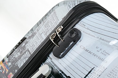 Polycarbonat Hartschale Koffer 2060 Trolley Reisekoffer Reisekofferset Beutycase 3er oder 4er Set in 12 Motiven (NewYork) - 6