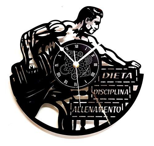 Instant Karma Clocks Orologio da Parete in Vinile Idea Regalo Vintage Handmade Allenamento Gym Fitness Palestra, Silenzioso