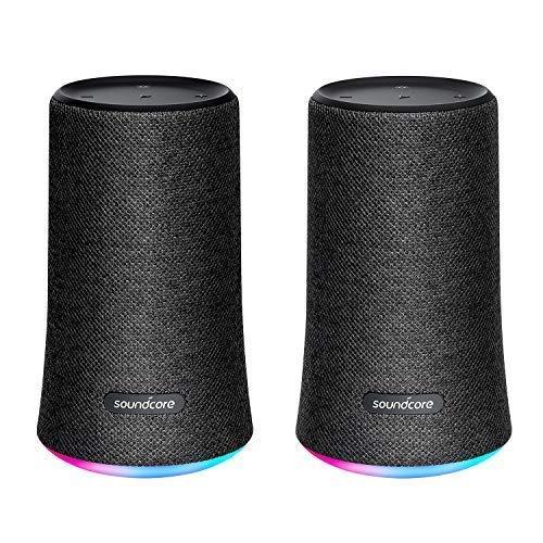 Soundcore Flare - Altoparlante Bluetooth portatile e compatto di Anker con suono a 360°, fantastico basso e luce a LED, IPX7, resistente all'acqua, 12 ore di tempo di gioco per feste (nero)