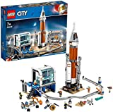 LEGO®-City La fusée spatiale et sa station de lancement Enfant 7 Ans et Plus, Jouet de Construction, 837 Pièces 60228
