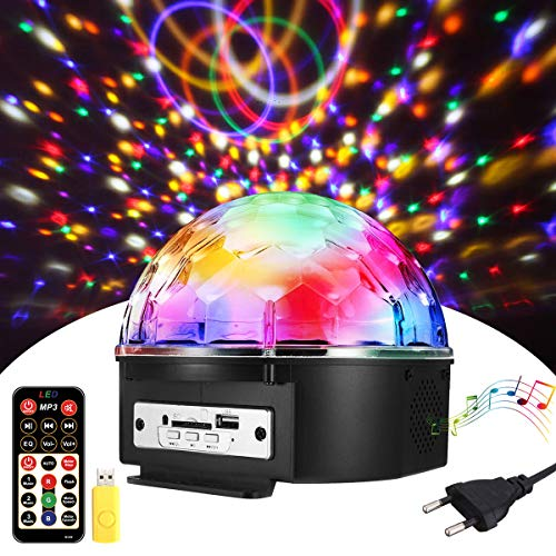 Discokugel,SOLMORE LED Discokugel Kinder Partylicht Disco Lichteffekte mit Fernbedienung Discolicht Projektor Beleuchtung für Party Wohnzimmer Kinder Spielzeug Feier Karaoke Geburtstag (Discokugel)