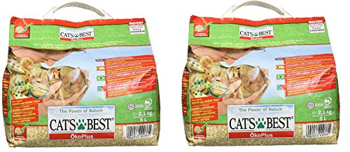 Cats Best Oko Plus Clumping Organic Cat Litter -5 Ltr (Pack Of 2) Total = 10 Ltr