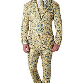 Rubies 's–Disfraz de oficial MINION traje de icono Crazy–Hombres De tamaño estándar