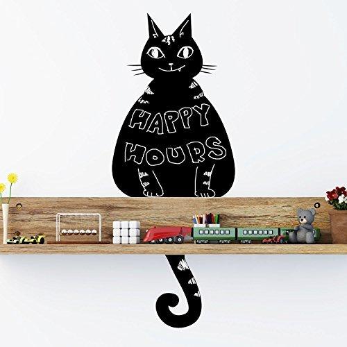 Adesivi da parete gatto nero Lavagna Decorazione da parete murali rimovibile AUTOADESIVO...