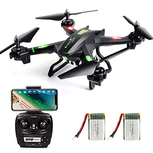 LBLA FPV Drone con WiFi Camera Live Video Headless Mode 2.4 GHz 4 CH 6 Axis Gyro RC Quadcopter,...