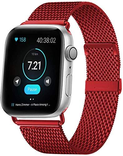 HILIMNY Compatibile con Apple Watch Cinturino 38mm 40mm 42mm 44mm, Acciaio Inossidabile Ricambio Cinturini, per Apple Watch Series 5/4/3/2/1 Sport Edition