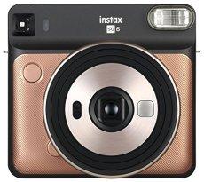 Fujifilm Instax SQ6 - Cámara analógica instantánea formato cuadrado, color dorado (blush)