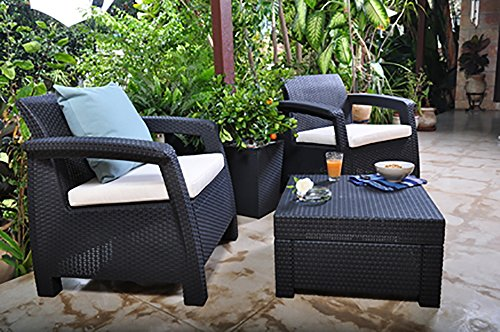 Keter Corfu 2 Seater Balcony Garden Outdoor Rattan Furniture Set Review
