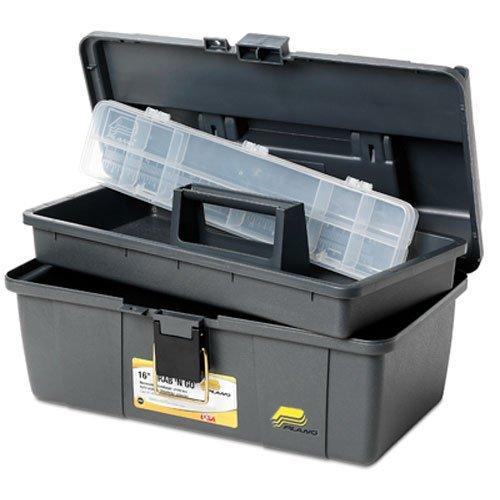 Plano Grab-N-Go - Cassetta degli attrezzi con vassoio da 40,6 cm, colore: grigio