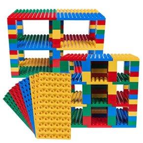 Strictly Briks Big Briks - Set de Placas para Construir en Forma de Torre - Compatible con Todas Las Grandes Marcas…