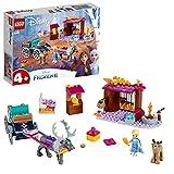 LEGO Frozen L'Avventura sul Carro di Elsa 41166, Carica il Carretto e Recati nel Paese delle Meraviglie di Disney Frozen II con Elsa e Sven, la renna, Set di Costruzioni per Bambini +4 Anni