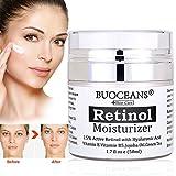 retinol Crème, con ácido hialurónico, Vitamina E y té verde, la más eficaz Antienvejecimiento &...