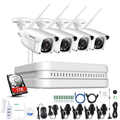 ANNKE 1080P 8CH WIFI Überwachungskamera Set,NVR recorder, CCTV Videoüberwachung System mit...