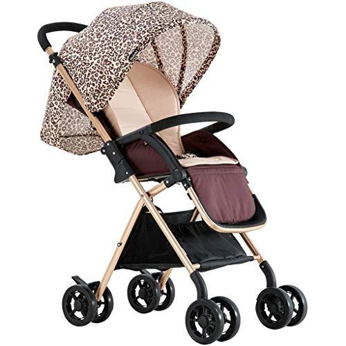 Passeggini per i più piccoli Sedile ad alto paesaggio Sedile leggero Comfort 0-3 anni Oro Blu Rosa...