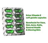 100capsules de Vitamine E Evion - Pour un visage lumineux, des cheveux et des ongles renforcés, une peau éclatante, contre l'acné - 400mg