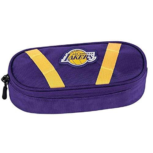 Astuccio NBA Los Angeles Lakers Organizzato Ovale Vuoto 21x9x6 cm