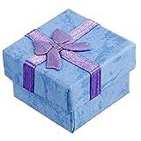 Preliked 24PCS quadrato gioielli scatole regalo con fiocco scatole di cartone per collana