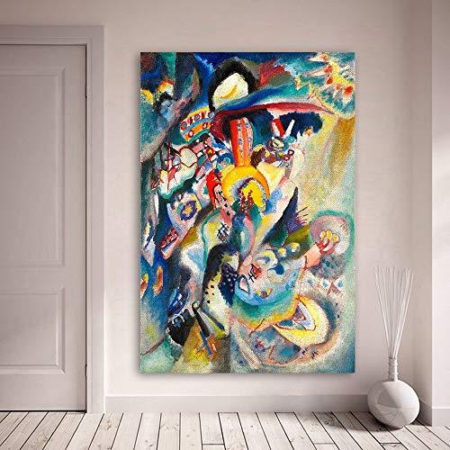Pittura a Olio Frameless abbellire Wassily Kandinsky Olio Astratto NG Moderni Decorazioni per la...