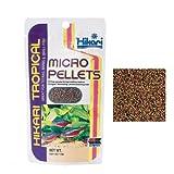 Hikari Tropical Micro Pellets–Alimento de lento hundimiento en micro gránulos para carácidos, ciprínidos y otros peces tropicales de boca pequeña.