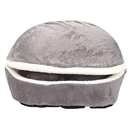 LvRao 2 in 1 Pet Casa Nido a forma di conchiglia Accogliente Caldo Cuscino Cuccia Morbido Letto per...