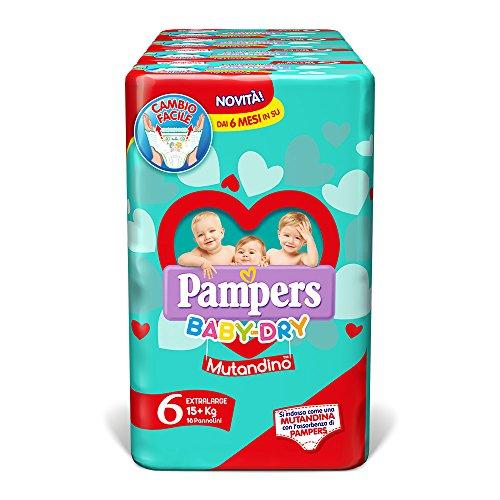 Pampers Baby Dry Mutandino XL, 64 Pannolini, Taglia 6 (15+ Kg)