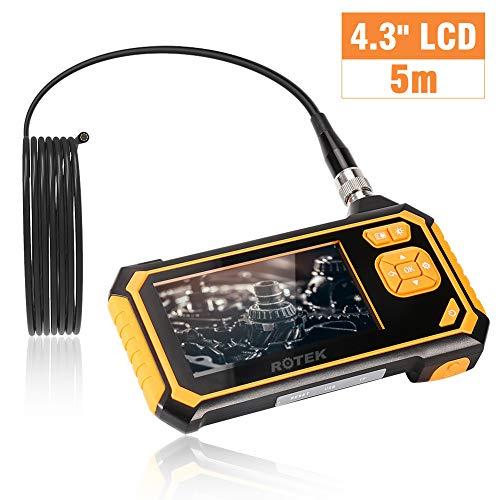 ROTEK Endoscopio Industriale, Schermo di ispezione WiFi Schermo LCD a Colori, periscopio palmare...