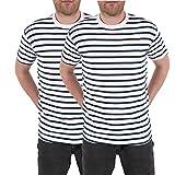 Oro - T Shirts Homme Lot de 2 Marinières
